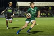 22 February 2019; Stephen Fitzgerald of Connacht on his way to scoring a try during the Guinness PRO14 Round 16 match between Glasgow Warriors and Connacht at Scotstoun Stadium in Glasgow, Scotland. Photo by Ross Parker/Sportsfile