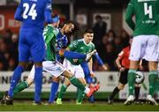 22 February 2019; Bastien Héry of Waterford shoots to score his side's first goal during the SSE Airtricity League Premier Division match between Cork City and Waterford at Turners Cross in Cork. Photo by Eóin Noonan/Sportsfile