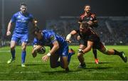 22 February 2019; Noel Reid of Leinster goes over to score his side's fourth try despite the attention of Ruaan Lerm of Southern Kings during the Guinness PRO14 Round 16 match between Leinster and Southern Kings at the RDS Arena in Dublin. Photo by David Fitzgerald/Sportsfile