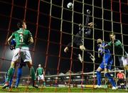 22 February 2019; Mark McNulty of Cork City clears a corner during the SSE Airtricity League Premier Division match between Cork City and Waterford at Turners Cross in Cork. Photo by Eóin Noonan/Sportsfile