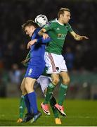 22 February 2019; Karl Sheppard of Cork City in action against Karolis Chvedukas of Waterford during the SSE Airtricity League Premier Division match between Cork City and Waterford at Turners Cross in Cork. Photo by Eóin Noonan/Sportsfile