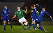 22 February 2019; James Tilley of Cork City in action against Rory Feely of Waterford during the SSE Airtricity League Premier Division match between Cork City and Waterford at Turners Cross in Cork. Photo by Eóin Noonan/Sportsfile