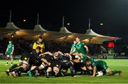 22 February 2019; Connacht and Glasgow Warriors contest the scrum during the Guinness PRO14 Round 16 match between Glasgow Warriors and Connacht at Scotstoun Stadium in Glasgow, Scotland. Photo by Ross Parker/Sportsfile
