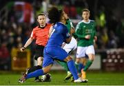 22 February 2019; James Tilley of Cork City is tackled by Bastien Héry of Waterford during the SSE Airtricity League Premier Division match between Cork City and Waterford at Turners Cross in Cork. Photo by Eóin Noonan/Sportsfile