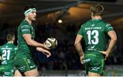 22 February 2019; Tom Daly of Connacht, left, celebrates his try with Kyle Godwin during the Guinness PRO14 Round 16 match between Glasgow Warriors and Connacht at Scotstoun Stadium in Glasgow, Scotland. Photo by Ross Parker/Sportsfile