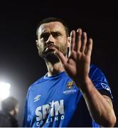 22 February 2019; Damien Delaney of Waterford reacts to Cork City supporters following the SSE Airtricity League Premier Division match between Cork City and Waterford at Turners Cross in Cork. Photo by Eóin Noonan/Sportsfile