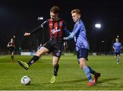 22 February 2019; Andy Lyons of Bohemians in action against Paul Doyle of UCD during the SSE Airtricity League Premier Division match between UCD and Bohemians at the UCD Bowl in Dublin. Photo by Harry Murphy/Sportsfile