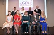 22 February 2019; In attendance during the 2018 LGFA Volunteer of the Year Awards are, from left, Youth Coach of the Year, Niamh Fox from Dromin-Athlacca Banogue, Co. Limerick, School Coach of the Year, John Kennedy from Glenamaddy, Co. Galway, Volunteer of the Year, Edel Conway from Doonbeg, Co. Clare, Committee Officer of the Year, Nora Fealy, Co. Kerry, LGA President Marie Hickey, PRO of the Year Donal Fitzpatrick, Co. Kildare, Hall of Fame Winner, Philip O'Hare, Co. Down & Ulster LGFA,  Journalist of the Year, Darren Kelly, Galway Bay FM, and Coach of the Year, Jess Brennan, Blessington, Co. Wicklow, at Croke Park in Dublin. Photo by Sam Barnes/Sportsfile