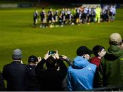 22 February 2019; Bohemians fans look on prior to the SSE Airtricity League Premier Division match between UCD and Bohemians at the UCD Bowl in Dublin. Photo by Harry Murphy/Sportsfile
