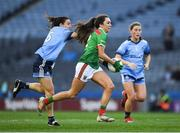 23 February 2019; Niamh Kelly of Mayo in action against Siobhán McGrath of Dublin during the Lidl Ladies NFL Division 1 Round 3 match between Dublin and Mayo at Croke Park in Dublin. Photo by Ray McManus/Sportsfile