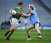 23 February 2019; Kathryn Sullivan of Mayo in action against Nicole Owens of Dublin during the Lidl Ladies NFL Division 1 Round 3 match between Dublin and Mayo at Croke Park in Dublin. Photo by Ray McManus/Sportsfile