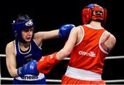 23 February 2019; Donna Barr, left, in action against Chloe Fleck during their 48kg bout at the 2019 National Elite Men's & Women's Boxing Championships Finals at the National Stadium in Dublin. Photo by Sam Barnes/Sportsfile