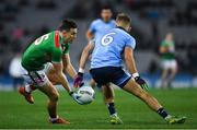 23 February 2019; Jason Doherty of Mayo  in action against Jonny Cooper of Dublin  during the Allianz Football League Division 1 Round 4 match between Dublin and Mayo at Croke Park in Dublin. Photo by Ray McManus/Sportsfile