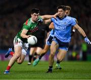 23 February 2019; Brian Reape of Mayo in action against David Byrne of Dublin during the Allianz Football League Division 1 Round 4 match between Dublin and Mayo at Croke Park in Dublin. Photo by Ray McManus/Sportsfile