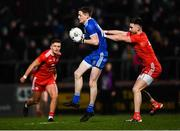23 February 2019; Conor McManus of Monaghan in action against Pádraig Hampsey of Tyrone during the Allianz Football League Division 1 Round 4 match between Tyrone and Monaghan at Healy Park in Omagh, Co Tyrone. Photo by Stephen McCarthy/Sportsfile