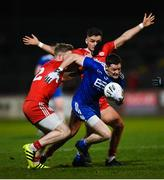 23 February 2019; Conor McManus of Monaghan in action against Frank Burns, left, and Michael McKernan of Tyrone during the Allianz Football League Division 1 Round 4 match between Tyrone and Monaghan at Healy Park in Omagh, Co Tyrone. Photo by Stephen McCarthy/Sportsfile