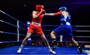 23 February 2019; Michaela Walsh, left, in action against Dearbhla Duffy during their 57kg bout at the 2019 National Elite Men's & Women's Boxing Championships Finals at the National Stadium in Dublin. Photo by Sam Barnes/Sportsfile