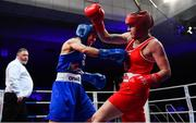 23 February 2019; Dearbhla Duffy, left, in action against Michaela Walsh during their 57kg bout at the 2019 National Elite Men's & Women's Boxing Championships Finals at the National Stadium in Dublin. Photo by Sam Barnes/Sportsfile