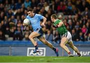 23 February 2019; Cormac Costello of Dublin in action against Colm Boyle of Mayo during the Allianz Football League Division 1 Round 4 match between Dublin and Mayo at Croke Park in Dublin. Photo by Daire Brennan/Sportsfile