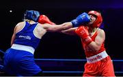 23 February 2019; Amy Broadhurst, left, in action against Moira McElligot during their 64kg bout at the 2019 National Elite Men's & Women's Boxing Championships Finalsat the National Stadium in Dublin. Photo by Sam Barnes/Sportsfile