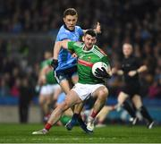23 February 2019; Brendan Harrison of Mayo in action against Paul Mannion of Dublin during the Allianz Football League Division 1 Round 4 match between Dublin and Mayo at Croke Park in Dublin. Photo by Ray McManus/Sportsfile