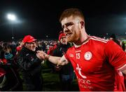 23 February 2019; Tyrone manager Mickey Harte and Cathal McShane following the Allianz Football League Division 1 Round 4 match between Tyrone and Monaghan at Healy Park in Omagh, Co Tyrone. Photo by Stephen McCarthy/Sportsfile