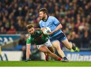 23 February 2019; Jack McCaffrey of Dublin in action against Aidan O'Shea of Mayo during the Allianz Football League Division 1 Round 4 match between Dublin and Mayo at Croke Park in Dublin. Photo by Daire Brennan/Sportsfile