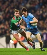 23 February 2019; Darren Gavin of Dublin in action against Aidan O'Shea of Mayo during the Allianz Football League Division 1 Round 4 match between Dublin and Mayo at Croke Park in Dublin. Photo by Daire Brennan/Sportsfile
