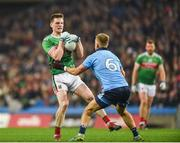 23 February 2019; Matthew Ruane of Mayo in action against Jonny Cooper of Dublin during the Allianz Football League Division 1 Round 4 match between Dublin and Mayo at Croke Park in Dublin. Photo by Daire Brennan/Sportsfile