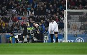 23 February 2019; Umpire Tom O'Kane is assisted off the field after players had accidently collided with him during the Allianz Football League Division 1 Round 4 match between Dublin and Mayo at Croke Park in Dublin. Photo by Ray McManus/Sportsfile