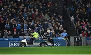 23 February 2019; Supporters in Davin Stand applaud as umpire Tom O'Kane is assisted off the field after players had accidently collided with him during the Allianz Football League Division 1 Round 4 match between Dublin and Mayo at Croke Park in Dublin. Photo by Ray McManus/Sportsfile