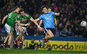 23 February 2019; Con O'Callaghan of Dublinis tackled by Donal Vaughan of Mayo late in the game during the Allianz Football League Division 1 Round 4 match between Dublin and Mayo at Croke Park in Dublin. Photo by Ray McManus/Sportsfile
