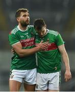 23 February 2019; Dejected Mayo players, Aidan O'Shea, left, and Matthew Ruane after the Allianz Football League Division 1 Round 4 match between Dublin and Mayo at Croke Park in Dublin. Photo by Daire Brennan/Sportsfile
