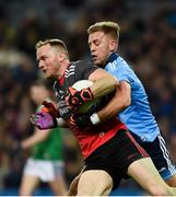 23 February 2019; Rob Hennelly of Mayo in action against Jonny Cooper of Dublin during the Allianz Football League Division 1 Round 4 match between Dublin and Mayo at Croke Park in Dublin. Photo by Daire Brennan/Sportsfile