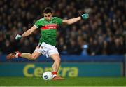 23 February 2019; Jason Doherty of Mayo kicks a penalty during the Allianz Football League Division 1 Round 4 match between Dublin and Mayo at Croke Park in Dublin. Photo by Ray McManus/Sportsfile