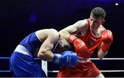 23 February 2019; Kieran Molloy, right, in action against Patrick Donovan during their 69kg bout at the 2019 National Elite Men's & Women's Boxing Championships Finals at the National Stadium in Dublin. Photo by Sam Barnes/Sportsfile
