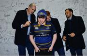 22 February 2019; Supporters in autograph alley with Leinster players Devin Toner, Ciarán Frawley and Jamison Gibson-Park ahead of the Guinness PRO14 Round 16 match between Leinster and Southern Kings at the RDS Arena in Dublin. Photo by Ramsey Cardy/Sportsfile