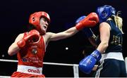 23 February 2019; Kellie Harrington, left, in action against Jelena Jelic during their 60kg bout at the 2019 National Elite Men's & Women's Boxing Championships Finals at the National Stadium in Dublin. Photo by Sam Barnes/Sportsfile