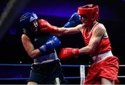 23 February 2019; Kellie Harrington, right, in action against Jelena Jelic during their 60kg bout at the 2019 National Elite Men's & Women's Boxing Championships Finals at the National Stadium in Dublin. Photo by Sam Barnes/Sportsfile