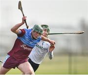23 February 2019; Eoin McEvoy of Galway Mayo Institute of Technology in action against Shea Shannon of Ulster University during the Electric Ireland HE GAA Ryan Cup Final match between Ulster University and Galway Mayo Institute of Technology at Waterford IT in Waterford. Photo by Matt Browne/Sportsfile