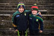 24 February 2019; Kerry supporters Sean Cox and Brian O'Sullivan, from Kilcummin GAA Club, prior to the Allianz Football League Division 1 Round 4 match between Galway and Kerry at Tuam Stadium in Tuam, Galway.  Photo by Stephen McCarthy/Sportsfile