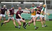 24 February 2019; Pat Camon of Offaly in action against Conor Whelan of Galway during the Allianz Hurling League Division 1B Round 4 match between Offaly and Galway at Bord Na Mona O'Connor Park in Tullamore, Offaly. Photo by Matt Browne/Sportsfile