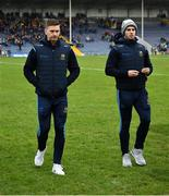 24 February 2019; Tipperary players Brendan Maher, left, and Cathal Barrett walk accross the pitch before the Allianz Hurling League Division 1A Round 4 match between Tipperary and Kilkenny at Semple Stadium in Thurles, Co Tipperary. Photo by Ray McManus/Sportsfile