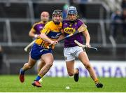 24 February 2019; Shane Reck of Wexford in action against Ian Galvin of Clare during the Allianz Hurling League Division 1A Round 4 match between Clare and Wexford at Cusack Park in Ennis, Clare. Photo by Eóin Noonan/Sportsfile