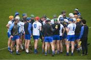 24 February 2019; Waterford manager Paraic Fanning speaks to his players ahead of the Allianz Hurling League Division 1B Round 4 match between Dublin and Waterford at Parnell Park in Donnycarney, Dublin. Photo by Daire Brennan/Sportsfile