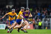 24 February 2019; Liam Og McGovern of Wexford in action against Shane Golden of Clare during the Allianz Hurling League Division 1A Round 4 match between Clare and Wexford at Cusack Park in Ennis, Clare. Photo by Eóin Noonan/Sportsfile
