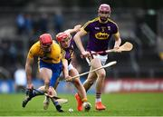 24 February 2019; Tony Kelly of Clare in action against Lee Chin of Wexford during the Allianz Hurling League Division 1A Round 4 match between Clare and Wexford at Cusack Park in Ennis, Clare. Photo by Eóin Noonan/Sportsfile