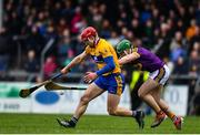 24 February 2019; John Conlon of Clare in action against Darren Byrne of Wexford during the Allianz Hurling League Division 1A Round 4 match between Clare and Wexford at Cusack Park in Ennis, Clare. Photo by Eóin Noonan/Sportsfile