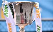 24 February 2019; The Liam Miller Cup following the SFAI SUBWAY Liam Miller Cup Championship Final match between Mayo and Cavan/ Monaghan at Mullingar Athletic FC in Gainestown, Mullingar, Co. Westmeath. Photo by Sam Barnes/Sportsfile