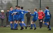 24 February 2019; Cavan/ Monaghan players celebrate at the final whistle following the SFAI SUBWAY Liam Miller Cup Championship Final match between Mayo and Cavan/ Monaghan at Mullingar Athletic FC in Gainestown, Mullingar, Co. Westmeath. Photo by Sam Barnes/Sportsfile